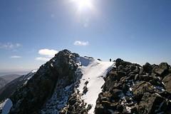 Sgùrr na Banachdaich (RoystonVasey) Tags: blue sky mountain snow black skye ice sunshine rock canon landscape eos scotland angle wide sigma na ridge friday fabulous 1020mm isle munro cuillin sgurr 400d 965m bannadich