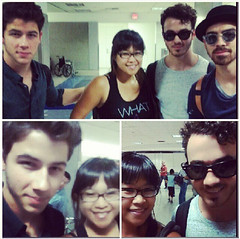 (Jonasbesties) Tags: fan airport kevin brothers nick joe fans jonas 2013