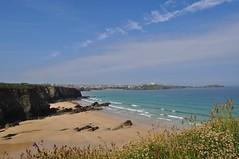 Lusty Glaze Beach (Gina Lessiter) Tags: uk sea sky beach grass coast sand rocks cornwall newquay cliffs coastal lustyglazebeach