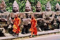Monks & Buddhas (iTimbo61) Tags: travel travelling beautiful stone architecture buildings asian temple ancient ruins asia cambodia cambodian buddha stupa buddhist religion buddhism olympus structure tropical angkor om1 watt e500 travelphotography olympuscameras