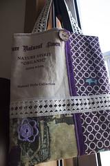 """Saco Selvage """"Natural Style"""" (owl_mania) Tags: bag quilt crochet botão quilting patchwork batting saco fabrics galão tecidos junho botões galões 2013 tecidojaponês tecidosjaponeses tecidosportugueses sacoselvage bolasdetons sacoempatchwork"""