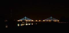 Blaues Wunder (superscheeli) Tags: bridge blue night germany wonder dresden nacht clear sachsen pont brcke elbe dresde saxonia blaueswunder