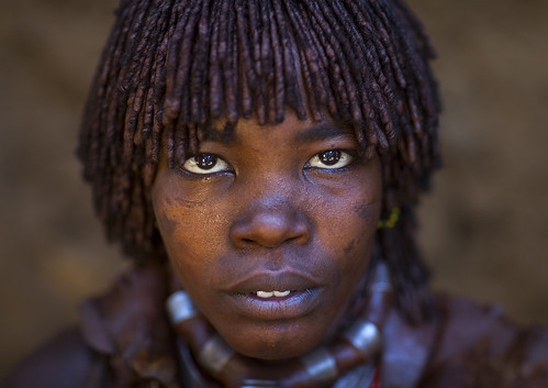 Hamer Tribe Woman, Turmi, Omo Valley, Ethiopia