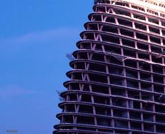 Wangjing Steel Frame (Ben_Lepley +_+) Tags: china skyscraper steel beijing 200m zahahadid ccdi toppedout wangjingsoho