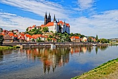 Meissen and river Elbe (Tobi_2008) Tags: city color reflection river germany deutschland town day cloudy saxony sachsen stadt tobi fluss farbe allemagne spiegelung germania meisen mygearandme mygearandmepremium mygearandmebronze mygearandmesilver mygearandmegold mygearandmeplatinum blinkagain