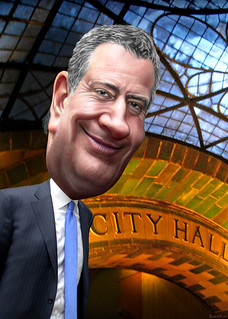 Bill de Blasio - Caricature