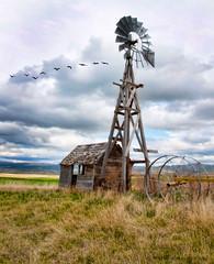 Chesterfield Idaho ghost town (Pattys-photos) Tags: windmill town ghost idaho chesterfield