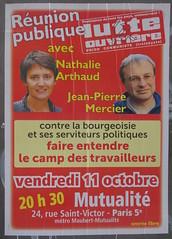 Faire entendre le camp des travailleurs (emmanuelsaussieraffiches) Tags: poster political politique affiche lutteouvrire