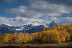 Autumn Peak (Shannon.mountainman) Tags: autumn sunset color clouds landscapes colorado aspens 2012 fineartphotography dallasdivide sneffelsrange