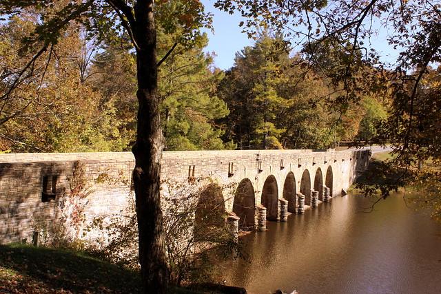 Cumberland Mountain State Park Stone Arch Bridge View #4