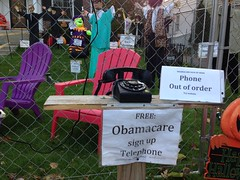 Halloween Healthcare Telephone 2013 (Halloween kook:  Baseball guy) Tags: white house halloween up sign train costume log flickr phone display error telephone lawn down busy congress health website scream care wreck healthcare obama act hotline on hearings affordable 2013 obamacare