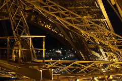 13_10_Paris_Tour_Eiffel_1956 (Photoclic57) Tags: paris tower architecture night tour toureiffel nuit