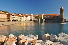 Collioure, South of France. (agabarka) Tags: sea france church landscape languedoc d90 nikon90