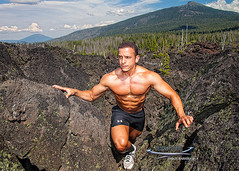 August 16, 2013 (EfrenJAlvarez) Tags: usa mountains hot sexy field oregon work magazine print outdoors photography lava modeling outdoor hiking ripped climbing agency salem bodybuilder fitness abs shredded fit tanned dieting underarmor copyrighted abdominals volcanoe ismaelbarrera digisnapstudio