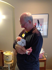 "Grandpa Miller Holds Paul for the First Time • <a style=""font-size:0.8em;"" href=""http://www.flickr.com/photos/109120354@N07/10953371156/"" target=""_blank"">View on Flickr</a>"