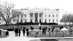 World AIDS Day - Red Ribbon on the White House Portico 33922