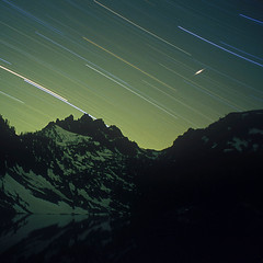 ....as the world turns.... (sawtoothphoto) Tags: lake bench star nikon kodak idaho falling toolate fm startrails getalife 100vs vision:mountain=0814 vision:sunset=0525 vision:outdoor=086 vision:sky=0757 vision:clouds=0649