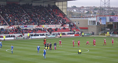 Ready for kick off (lcfcian1) Tags: county city uk england sport 22 town stadium leicester swindon ground away matches the countyground leicestercity lcfc swindontown league1 151108 swindonvleicester
