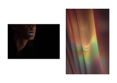 ~ (David Kerssens) Tags: original light portrait david reflection art face set modern digital canon mouth neck photography eos photo rainbow experimental photographer contemporary cd curtain creative young minimal series minimalism kerssens