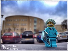Paging Dr. Bricks (Hellbelly) Tags: hospital toy flickr lego minifig surgeon series6 snapseed iphone4sbackcamera428mmf24