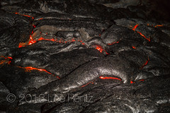 Hot Molten Lava at Night on the Big Island of Hawaii (Lee Rentz) Tags: orange usa rock night america dark vent kalapana volcano hawaii lava evening glow darkness surface fresh land glowing flowing bigisland geology melted volcanic eruption kilauea oozing puna molten pahoehoe lavafield geological forming lavaflow puuoo geologic punadistrict pahoehoelava eastriftzone kilauealavaflow {vision}:{outdoor}=0771 {vision}:{clouds}=0689 {vision}:{sky}=0621 {vision}:{mountain}=0503