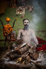 Raj Giri Baba (carbajo.sergio) Tags: india man river nikon varanasi hinduism kashi ganga sadhu ganges benares d600 aghori sb700 saylluiiis vision:people=099 vision:face=099