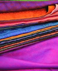 Coloured Silks (BrianRope) Tags: india varanasi