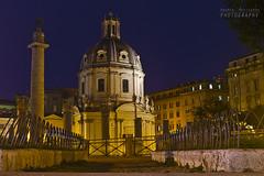 Chiesa Cattolica SS. Nome di Maria (Andrea Rapisarda) Tags: longexposure italy rome roma lights evening nikon italia dusk tripod luci 20mm sera crepuscolo forotraiano allrightsreserved d7000 piazzaforotraiano