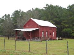 A Rural Red Barn (jimmywayne) Tags: red barn rural jasper florida farm hamiltoncounty