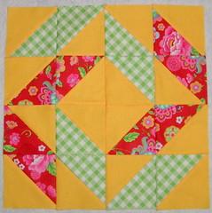 Block 2 (peachykeenquilts) Tags: cake sampler layer