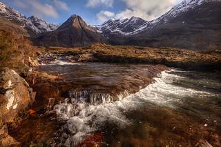 River ledge, Glenbrittle, Skye