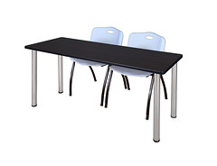 MT6024MWBPCM_4700GY (RegencyOfficeFurniture) Tags: silver table grey gray m chrome stacking regency kee laminate 4700 stackable trainingtable stackchair mochawalnut postleg chairkit regencyofficefurniture regencyseating traininghospitality mt6024bp 4700gy mt6024bpcm