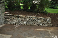 WM Mark Jurus 6, retaining wall, flat caps stones, dry laid stone construction, copyright 2014