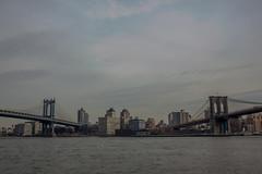 Bridges: Between the Williamsburg Bridge and the Brooklyn Bridge (pamhule) Tags: nyc newyorkcity bridge newyork water brooklyn downtown bridges brooklynheights 5d fullframe williamsburgbridge brookylnbridge 5dmarkii pamhule jensschott jensschottknudsen 佳能eos5dmarkii