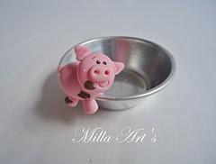 Porquinho sujinho de brigadeiro (Milla Art's) Tags: biscuit brigadeiro fazendinha porquinho