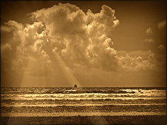 Oé Oé Matelot..... (ronramstew) Tags: sea sky sepia clouds waves ship agadir morocco maroc marruecos marokko navire