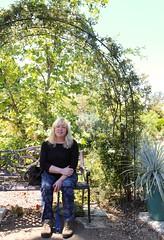 my sister Lori (Karol Franks) Tags: ca roses arlington garden bench losangeles spring arch arbor pasadena karolfranks 2014 karolfranksgmailcom