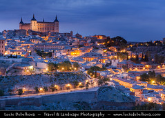 Spain - Toledo - Imperial City at Dusk - Twilight - Blue Hour - Night ( Lucie Debelkova / www.luciedebelkova.com) Tags: world trip travel vacation espaa holiday tourism beautiful wonderful nice fantastic spain perfect europe european tour place awesome sightseeing eu visit location tourist best spanish toledo journey stunning destination sight es traveling lovely visiting exploration incredible touring europeanunion breathtaking reinodeespaa southwesterneurope kingdomofspain luciedebelkova wwwluciedebelkovacom luciedebelkovaphotography castilelamancha