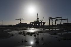 The yard (Lee Galashan) Tags: ex canon reflections dc sigma belfast cranes rig 7d oil mk2 shipyard 1850