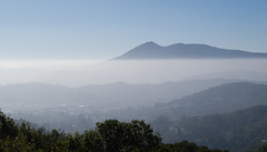 Inversion layer and Mount Tam