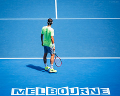 Australian Open 2015 - Day 5 (ljology) Tags: sport ball court switzerland australia melbourne victoria nike tennis tournament wilson volley rf racquet backhand australianopen grandslam rogerfederer forehand ljology