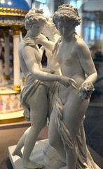 Royal Porcelain Factory, Naples (after Roman original) - The Three Graces (1785-90), Victoria & Albert Museum, Apr 2016 - 1 (ketrin1407) Tags: sculpture statue naked nude erotic sensual va threegraces naples porcelain 18thcentury thalia graces statuette victoriaalbertmuseum figuring euphrosyne aglaia charites late18thcentury