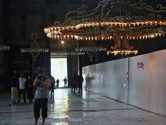 Taking photographs in Aya Sofya (sixthland) Tags: reflection turkey photographer istanbul tourist chandelier marble hagiasofia ayasofya 550d blipfoto