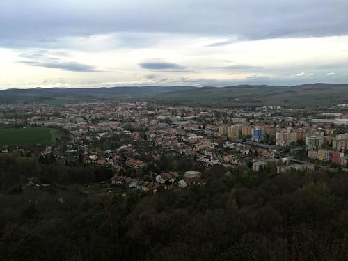 Výhled z Cvilínské rozhledny na Krnov