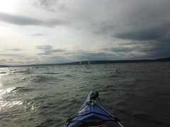 10 - May 27, 2016 - wind surfers at Browns Point (kazuhikogriffin) Tags: kayak kayaking windsurfers brownspoint