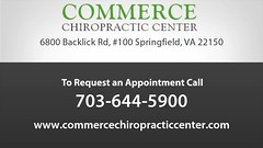 Welcome to Commerce Chiropractic Center (commercechiropracticcenter) Tags: auto sports neck back pain accident injury relief health massage spine therapy adjustments headache physical wellness spinal holistic springfieldchiropractic springfieldchiropractor fallschurchchiropractor fallschurchchiropractic