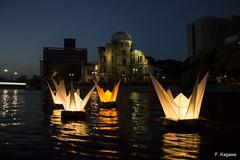 A-Bomb Dome (fkagawa1) Tags: light japan night river peace hiroshima bomb tsuru
