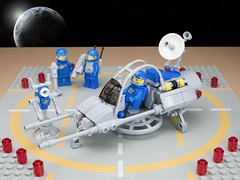 Lunar Exploration Geological Outpost (billyburg) Tags: blue moon classic bike lego jeep earth space utility surface galaxy vehicle benny vic exploration viper lunar speeder skimmer outpost geological patroller ll1923