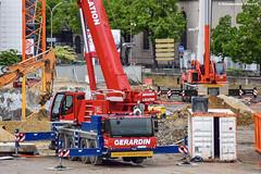 Liebherr LTM 1100-4.2 (Alexandre Prvot) Tags: construction construccin lorraine worksite buildingsite travaux chantier cugn grandnancy baustellebauplatz