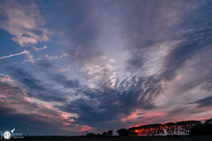 Punch of Red in the sky (Robert Stienstra Photography) Tags: sunset sky cloud field clouds skyscape landscape outdoors landscapes countryside twilight outdoor wageningen fields skyscapes cloudscape binnenveld cloudscapes landschappen ndfilter landscapephotography tamron18200mm skyporn sunsetphotography nikond7000